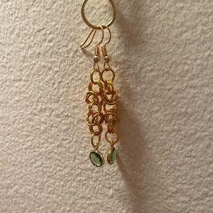 Handmade Byzantine Pattern Chainmail Earrings